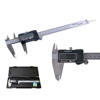 "8"" 200mm Digital Vernier Caliper Gauge Electronic Micrometer Measurement Tool UK"