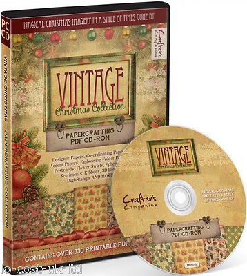 Vintage Christmas Collection Papercrafting Cd-Rom 330 Printable Sheets Imagery