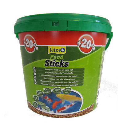 1200g 10 litre TETRA POND STICKS FLOATING KOI FISH FOOD BUCKET