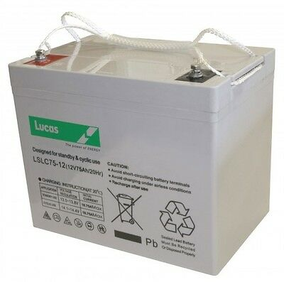 12v-75Ah AGM MOBILITY BATTERY TO FIT INVACARE METEOR 4
