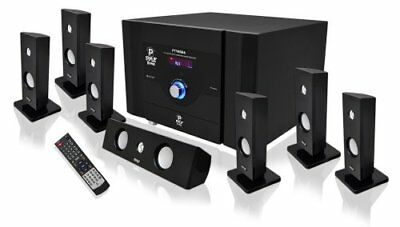PYLE Audio 7.1 Channel Home Theater System Satellite Speakers Bluetooth