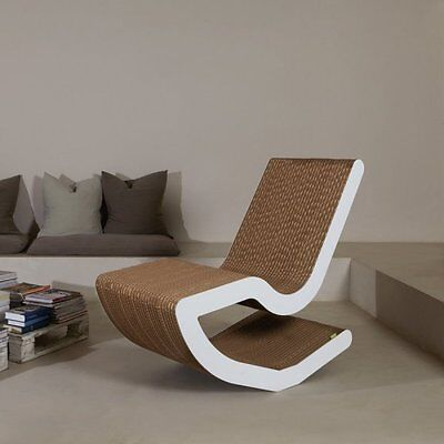 Chaise Longue  In Cartone Bioeco Kub  Pen    Made In Italy