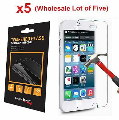 5x Wholesale Lot Tempered Glass  Screen Protector for iPhone 6 PLUS Retail Box