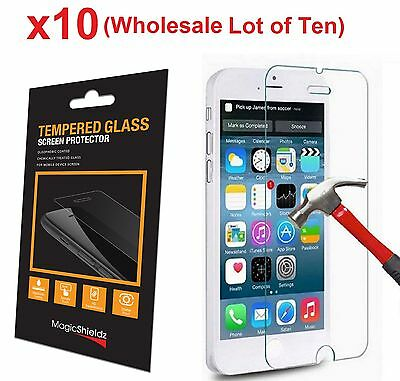 10x Wholesale Lot Tempered Glass  Screen Protector for iPhone 6 PLUS Retail Box
