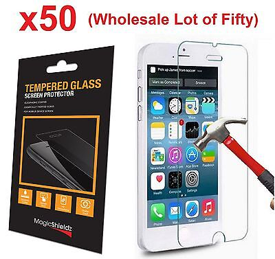 50x Wholesale Lot Tempered Glass  Screen Protector for iPhone 6 PLUS Retail Box