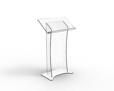 LECTERN*PODIUM Acrylic Perspex Freestanding Lectern-Clear Speeches, Presentation