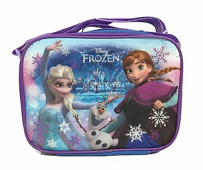 New Disney Frozen Anna Elsa Olaf Purple Insulated Lunch Box Bag for Kids