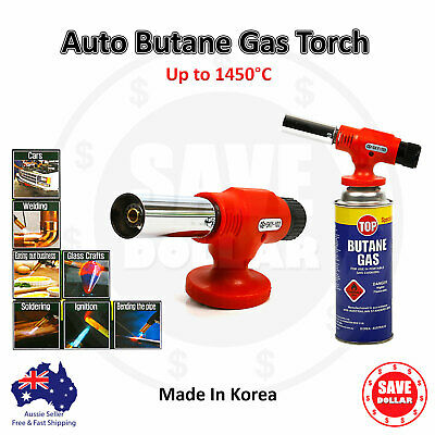 Butane Gas Blow Torch Auto Ignition Flame Gun Welding Soldering Iron Fire 1450°C