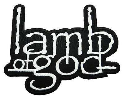 LAMB OF GOD Metal Rock Music Band Embroidered Iron Sew on Jacket Hat Patch Logo