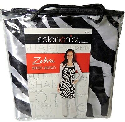 Scalpmaster Salon Beauty Supply ZEBRA APRON Capes Gowns Haircut Aprons 4058 New
