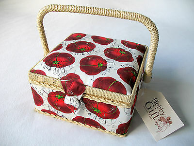 HobbyGift small Sewing Basket: Tomato Pin Cushion design HGS022