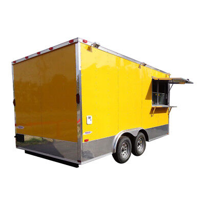 Concession Trailer 8.5'x16' Yellow - Catering Food Event Vending