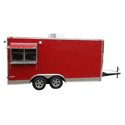Concession Trailer 8.5'x16' Red - Food Vending Catering Event