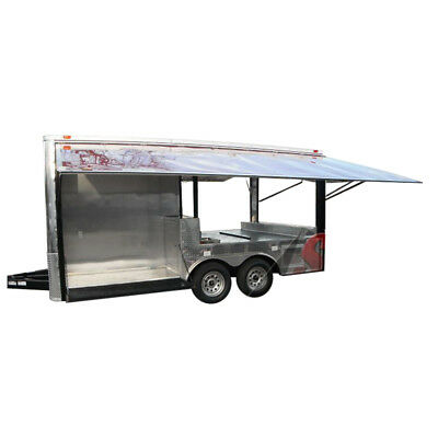 Concession Trailer 8.5'x16' Red - Pizza Event Food BBQ Catering