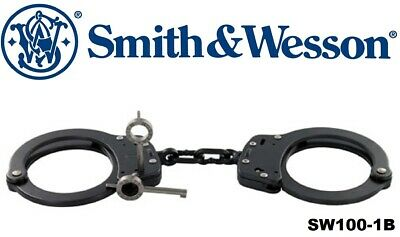 SMITH & WESSON Black Steel Tactical Law Enforcement Handcuffs 10097