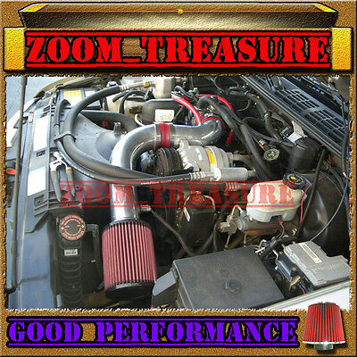 """Red 1998-2003/98-03 Chevy S10 Zr2/xtreme/hombre/sonoma 2.2L Cold Air Intake 3"""""""