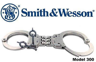 SMITH & WESSON Nickel Tactical Law Enforcement Hinged Handcuffs 10089