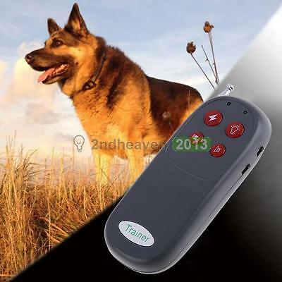 New 4 In 1 Dog Pet Remote Control Training Shock Vibrate Anti Stop Bark Collar