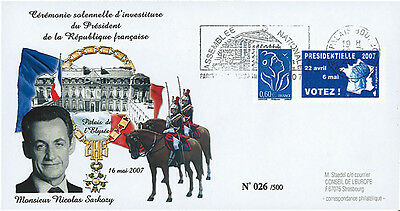 "EP07-3 FDC ""France 2007 Presidential Election - SARKOZY"" Paris National Assembly"