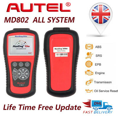 New Autel MD802 All System Elite Mxidiag Graphing Diagnostic Tool Scanner Code