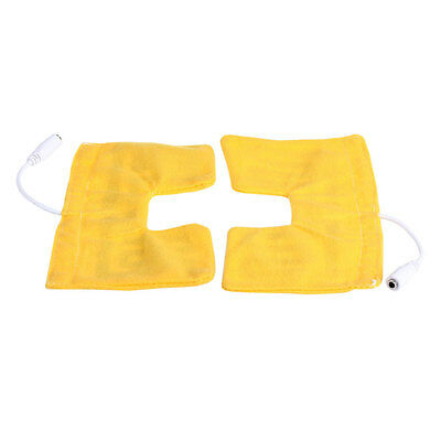 Pair USB Double-Sided Heating Plate for Gloves Yellow Warm Winter New
