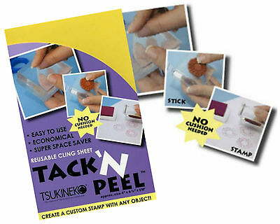 Tack N Peel Reusable Clear Flexible Adhesive Cling Sheet. Craft Stamping Artist