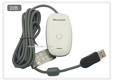 Xbox 360 USB Wireless Game Controller Receiver Adapter for Windows PC WHITE new