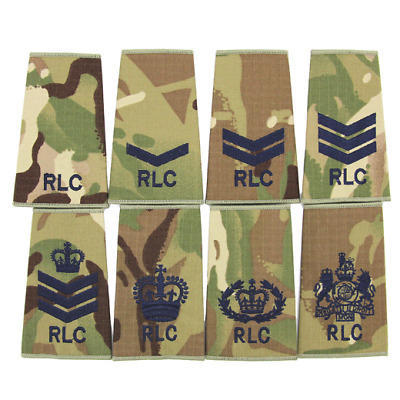 Rlc Royal Logistics Corp British Army Multicam Pcs Rank Slides