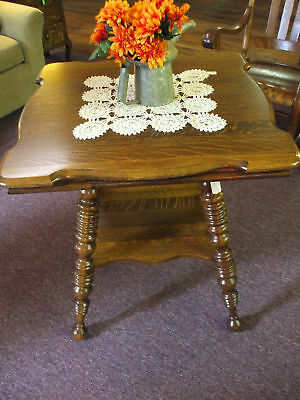 Antique Oak Table Parlor Lamp Solid 1/4sawn oak Made in The USA