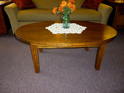 """Antique Oak mission Table Quartersawn solid oak Coffee, library, refinished 50"""""""