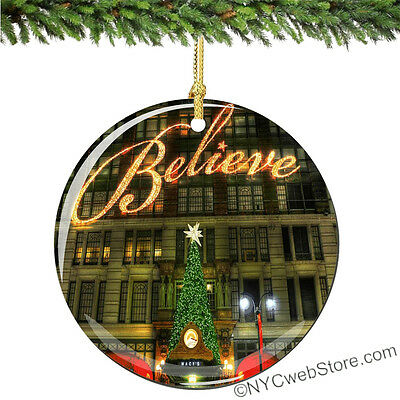 Macy's Believe Porcelain Christmas Ornament from NYC Macy's Ornaments Keepsakes