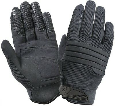 BLACK Military & Police Security SWAT Tactical Padded Knuckle Work Gloves 4461