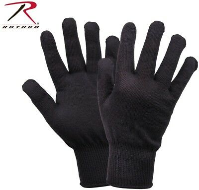 Black D-3A Military Wool Nylon Blend Glove Liners - Made in the USA Rothco 8418