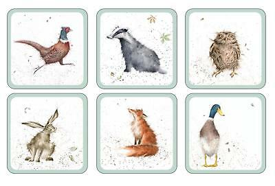 Pimpernel Wrendale Designs Coasters Set of 6 Country Animal Drinks Mat Farm New
