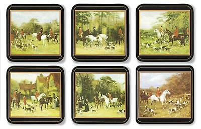 Pimpernel Tally Ho Coasters Set of 6 Horse Hounds Hunting Drink Mats New Boxed