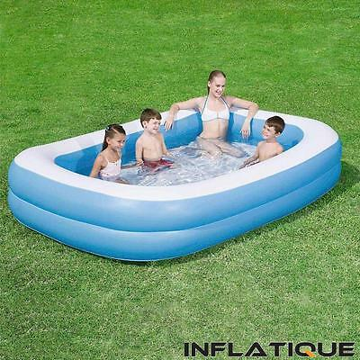 Bestway Family Inflatable Pool   Large Childrens Kids Blue Pool