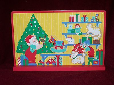 Santas Workshop  Animated Music Box  Christmas Collectible Plays Tune Toyland