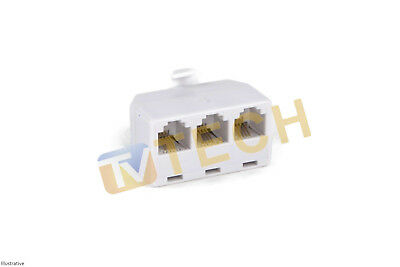 RJ11 Treble Phone Adaptor Eircom BT Phone Line Splitter