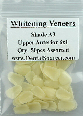 Dental Ultra-Thin Whitening Veneers Resin Teeth Upper Anterior Shade A3 80 PIECE