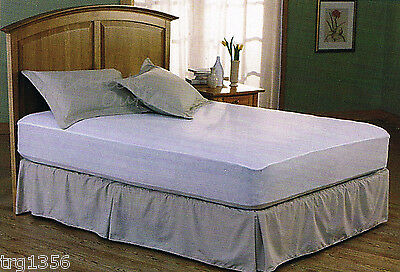 Mattress Cover Single/ Full/ Queen Size Fitted Plastic Bed Bug Allergy Protector
