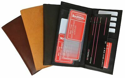 Genuine Leather Checkbook Cover Wallet Organizer with Credit Card Holder Marshal