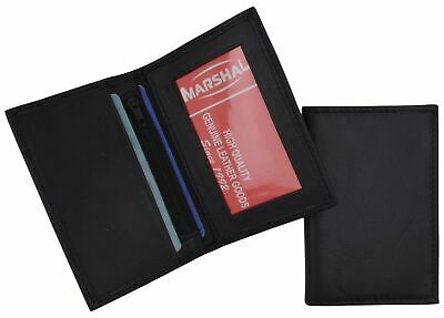 Men's Genuine Leather Bifold ID-Credit Card Holder Small Thin Wallet Black Brown