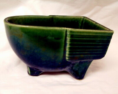 Vintage McCoy Pottery Dark Green Bath Tub Dish Garden