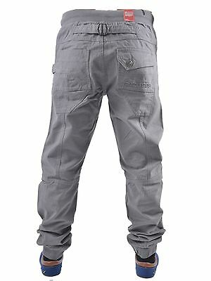 Boys Kids Enzo Ezb188 Grey Cuffed Joggers All Sizes 24 To 29 Reduced