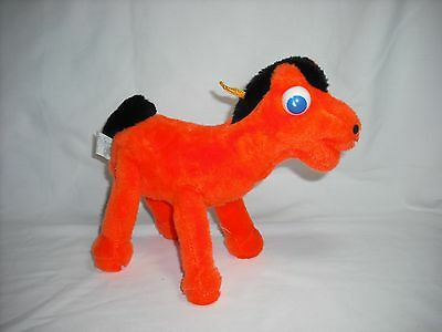 """VINTAGE 1988 9"""" Poseable Plush Gumby's Pal Horse Pokey By Ace Novelty"""