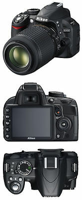 Nikon D Series D3100 14.2 MP Digital SLR Camera - Black Kit w/ AF-S DX VR...