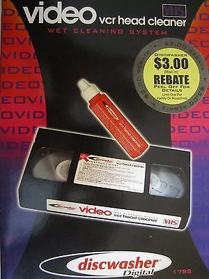NOS Discwasher brand Video VCR Head Cleaner and Camcorder Wet Cleaning System