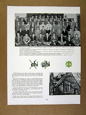 1950 Chi Phi Fraternity Univ of Wisconsin Madison Chapter House photo