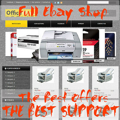 Ebay Store Design and Listing Template Package - Full Professional Ebay Shop