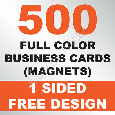 500 Custom Full Color Business Card Magnets | Glossy Uv Finish | Free Design